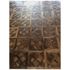 French Antique Wood Oak Parquet de Versailles Handmade French Tradition