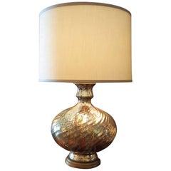 Vintage Mercury Glass Lamp