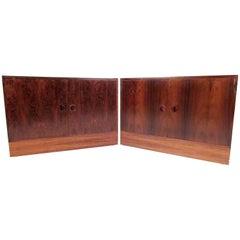 Pair of Scandinavian Modern Rosewood Cabinets