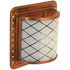 Half Lantern Style Copper Wall Sconce by Moe Light