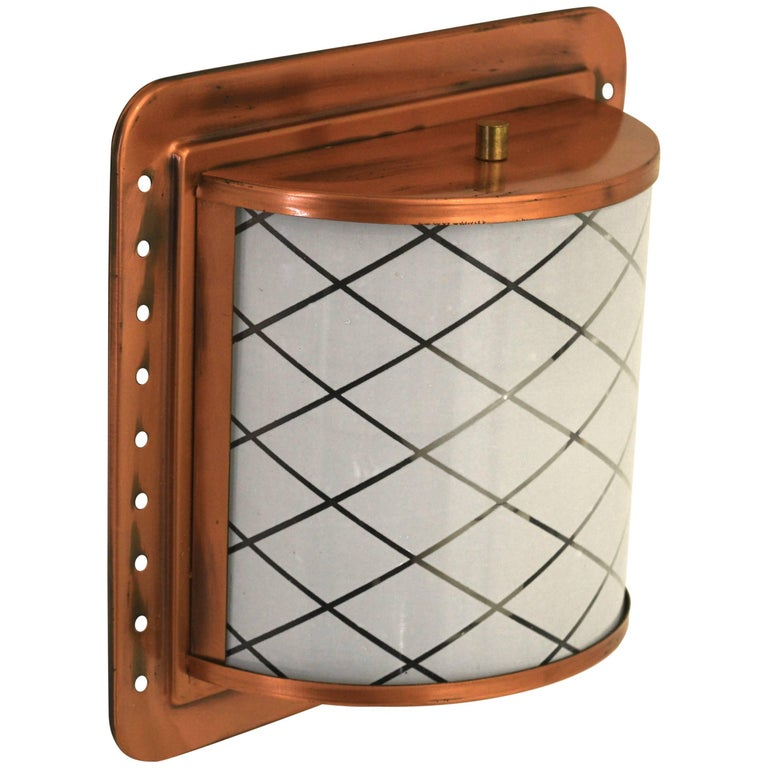 Lantern Style Wall Sconces : Half Lantern Style Copper Wall Sconce by Moe Light For Sale at 1stdibs