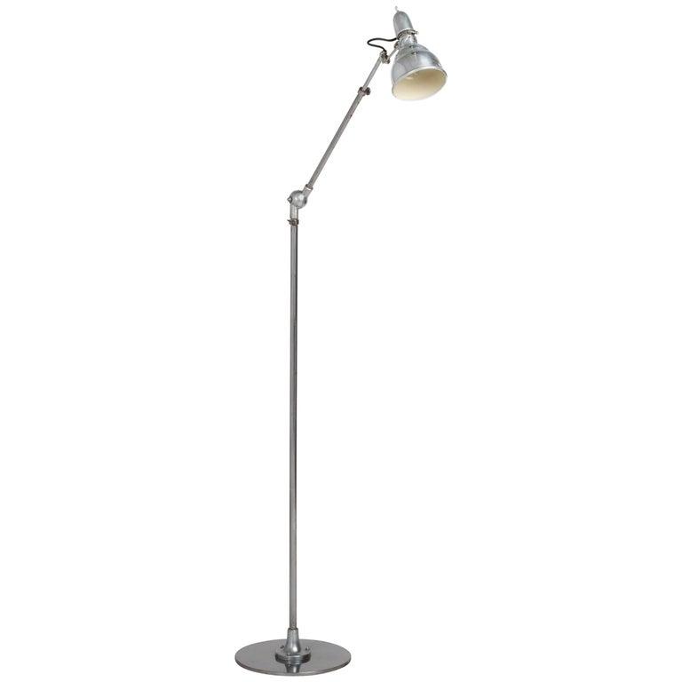 Vintage Modern Industrial Chrome Floor Lamp