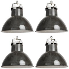 Vintage French Industrial Pendants
