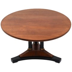 Antique French Empire Round Mahogany Centre Table