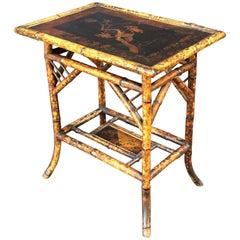 English Bamboo Rectangular Occasional Table