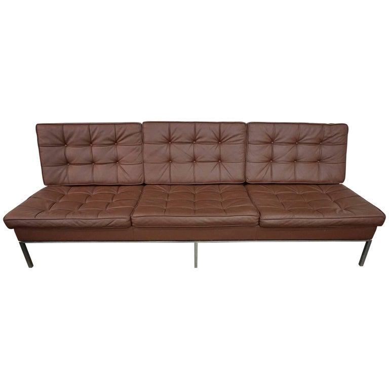 Florence Knoll Leather Sofa 1