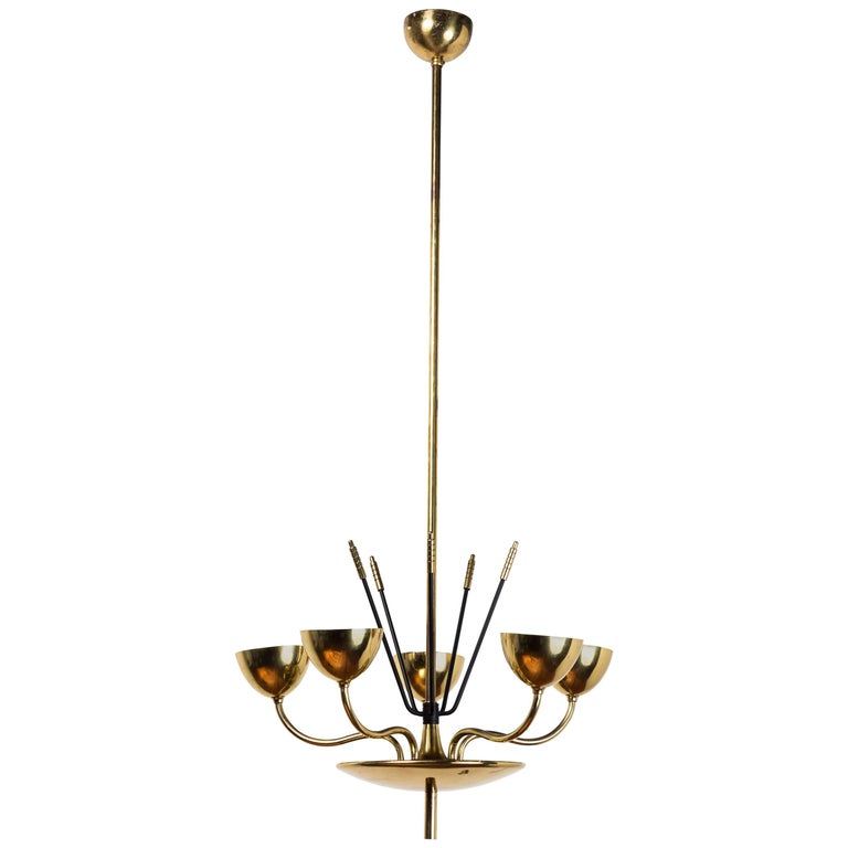 Chandelier in the Manner of Tommi Parzinger For Sale