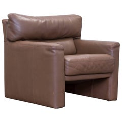 Brühl & Sippold Designer Chair Leather Brown One Seat Couch Modern