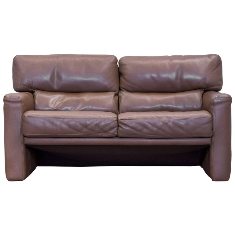 br hl and sippold designer sofa leather brown two seat. Black Bedroom Furniture Sets. Home Design Ideas