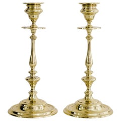 Two Brass Candleholder, circa 1920s