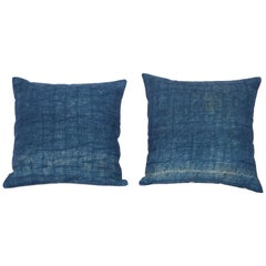 Pillow Cases Made Out of a Century Old Mazandaran Indigo Blanket Top