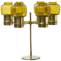 Rare Six-Armed 1960s Candelabra by Hans-Agne Jakobsson, Sweden