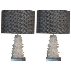 Flair Edition Pair of Crystal Lamps