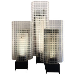 Set of Three 1980s Design Skyscrapers Table Lamps