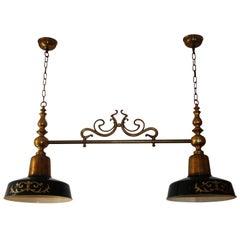 Extra Large Billiard, Snooker, Poker or Kitchen Island Chandelier, Brass Lamp