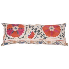 Antique Pillow Made Out of a 19th Century Uzbek Bukhara Suzani