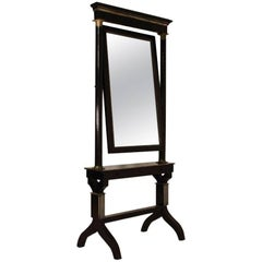 19th Century French Cheval Mirror