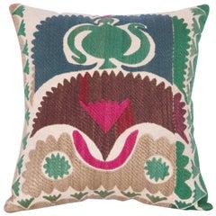 Pillow Case Made Out of a Vintage Uzbek Samarkand Suzani
