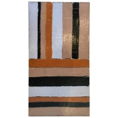 Hard Edge, Large-Scale Abstract Oil Painting, by Artist Abe Lubelski, 1979