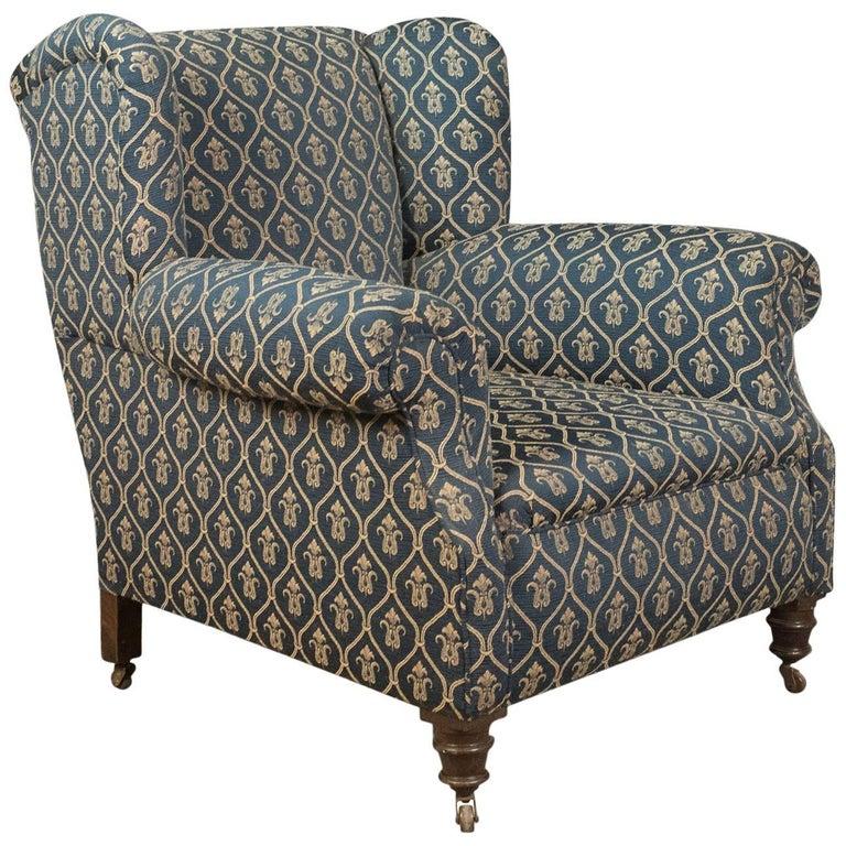 Antique Armchair, Edwardian English Club Chair, circa 1910