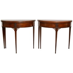 Pair of Gustavian Mahogany Games Tables Attributed to Carl Diedrik Fick