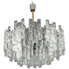 Tiered Glass Chandelier by J.T. Kalmar Austria