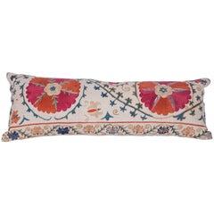 Antique Pillow Made Out of a 19th Century Uzbek Bukhara Suzani