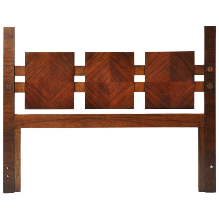 Unique mid century modern walnut queen headboard by - Unique bedroom furniture for sale ...
