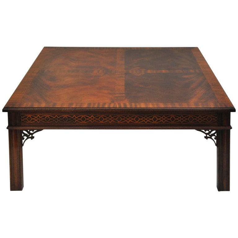 Chinese Chippendale Style Coffee Table For Sale At 1stdibs