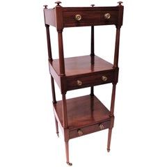 Regency Three-Drawer Étagère, Mahogany, England, circa 1810