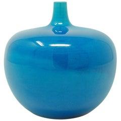 Carl-Harry Stålhane for Rorstrand Porcelain Vase with Crackle Glaze