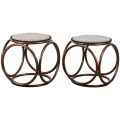 Pair of Thonet Style Stools