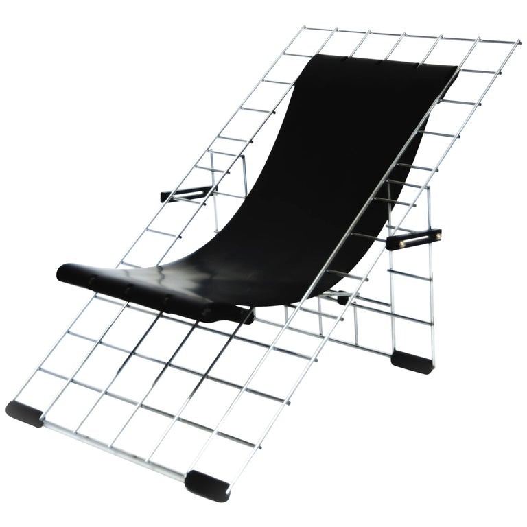 Folding Grid Chair by Henner Kuckuck, USA, 1996, Rubber and Metal For Sale