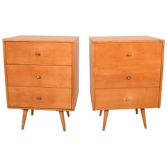 Paul McCobb Pair Dresser in Solid Maple with Aluminum Pulls Mid-Century Period
