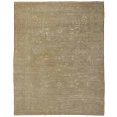 Transitional Area Rug with Oushak Design and Warm, Neutral Colors