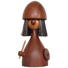 Midcentury Danish Modern Teak Viking Toy Brush Laurids Lonborg Kay Bojensen