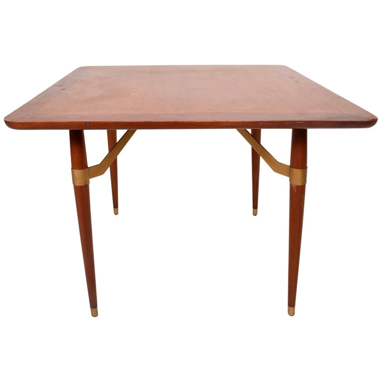 Mexican modernist game or dining table in mahogany wood for Dining room game table