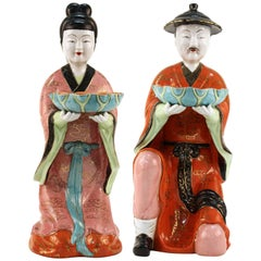 Pair of Gump's Chinoiserie Figures