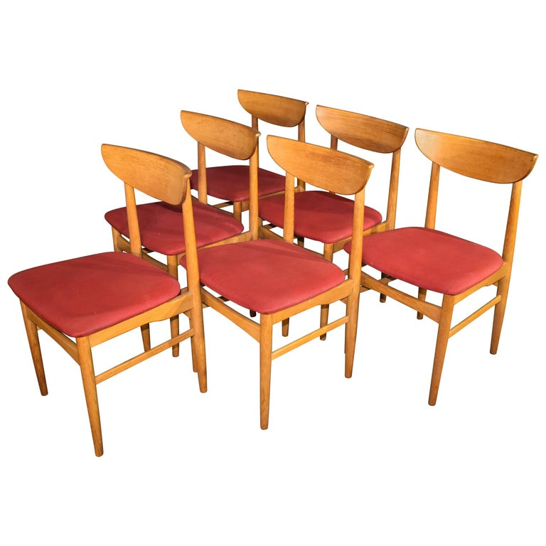 Harry Østergaard For Skovby 1960s Dining Chairs Oak 1