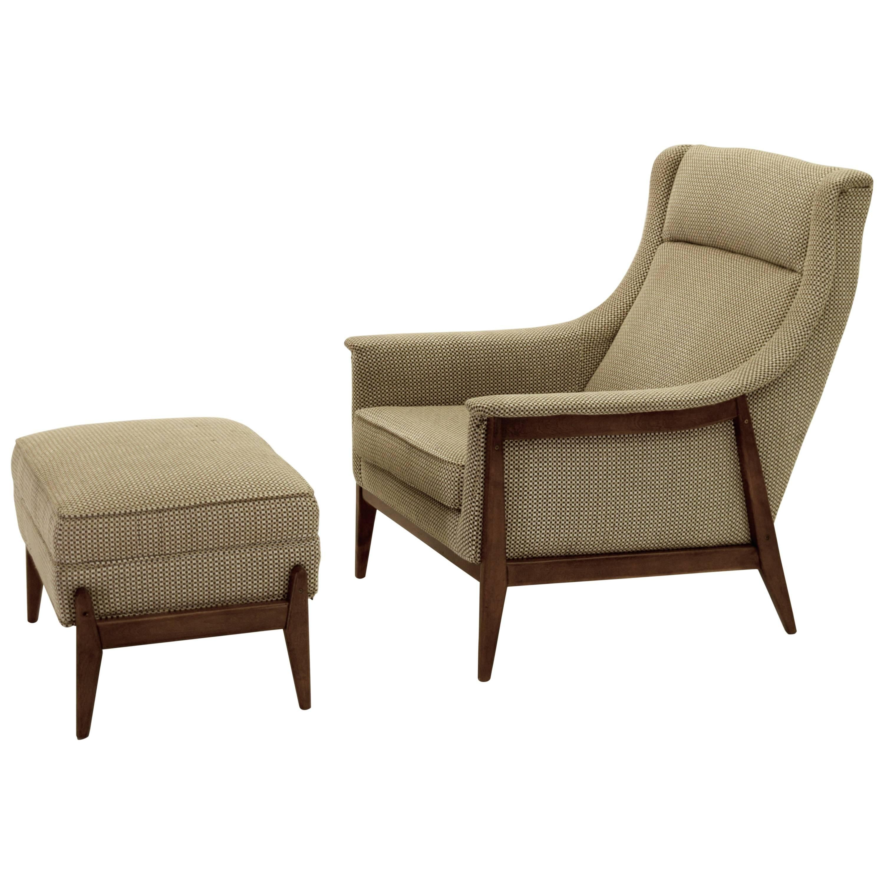 exquisite armchair and ottoman by selig in original cotton felt 1