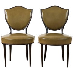 Pair of Shield Back Sitting Chairs by Grosfeld House