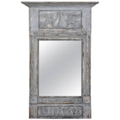 19th Century Swedish Painted Wall Mirror