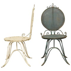 Wrought Iron Italian Garden Chairs, circa 1950