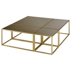Modular Low Table Collection, Brass and Glass, by P. Tendercool