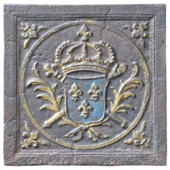 18th-19th Century 'Arms of France' Fireback