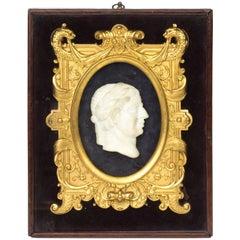 19th Century Grand Tour Marble and Ormolu Plaque Roman Emperor