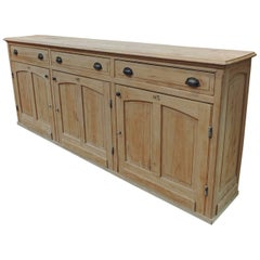 1930s Elm Wood French Shop Counter