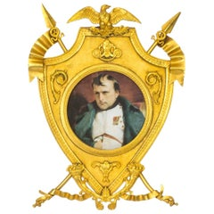 19th Century French Empire Revival Gilt Bronze Picture Frame