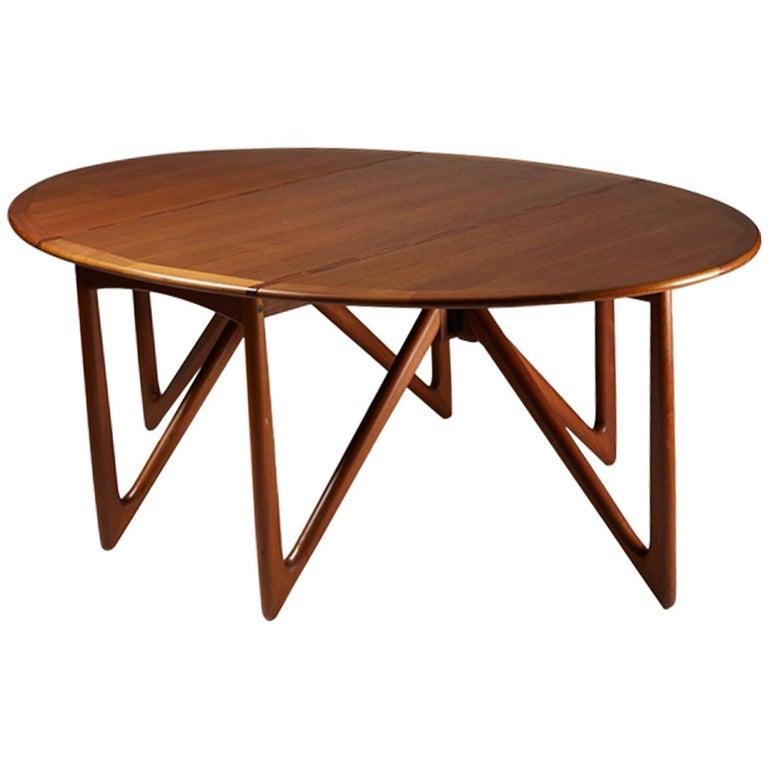 Dining Table Designed by Kurt Östervig, Denmark, 1950s Teak