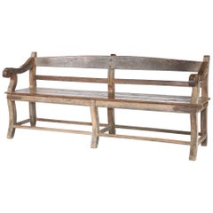 Large 19th Century Teak 'Bombay' Bench